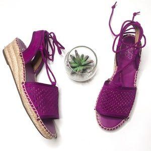 Franco Sarto Purple Liona Espadrille Wedges